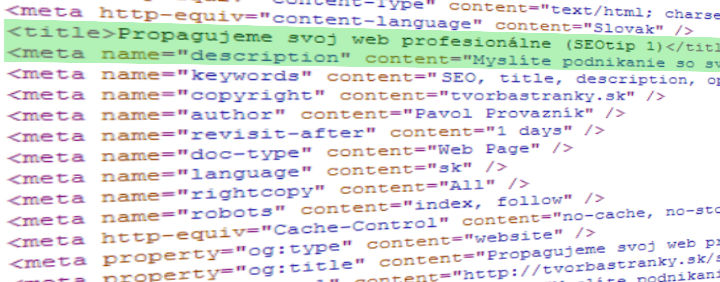 Základ SEO vášho webu- Title a Description
